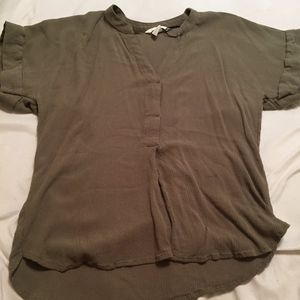 green h and m blouse!